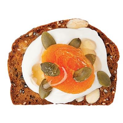 Greek Yogurt, Sunflower Seeds, Dried Apricot & Honey Drizzle