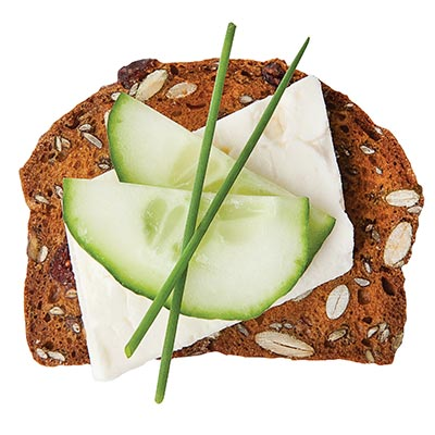 Feta, Cucumber topped with Green Onions