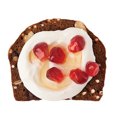 Greek Yogurt, Pomegranate Seeds & Honey Drizzle